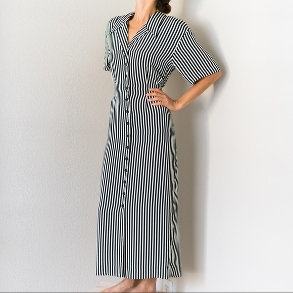 d75c36887 Liz Claiborne Dresses   Skirts - Vintage Liz Claiborne Striped Shirt Dress